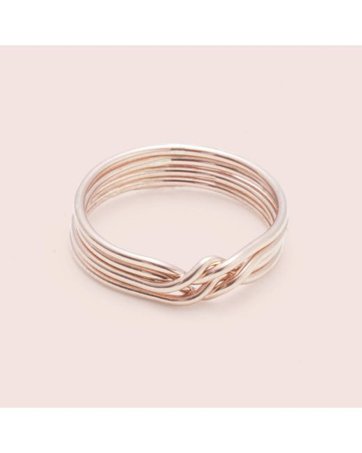 Erica Weiner | Metallic Puzzle Ring (rose Gold Fill) | Lyst