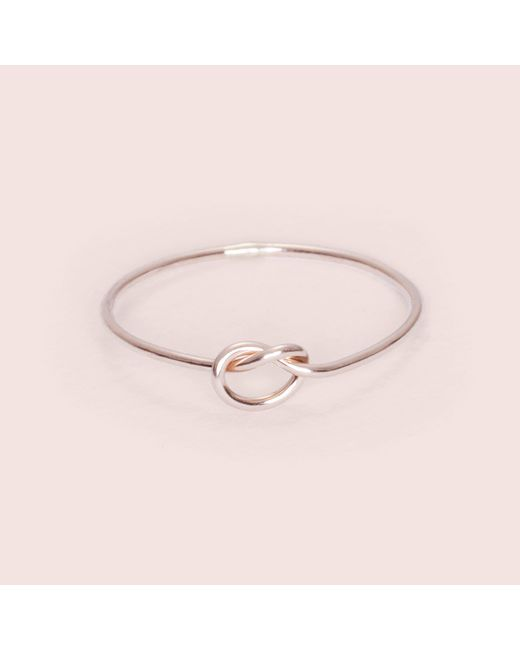 Erica Weiner - Pink Knot Really Ring (rose Gold Fill) - Lyst