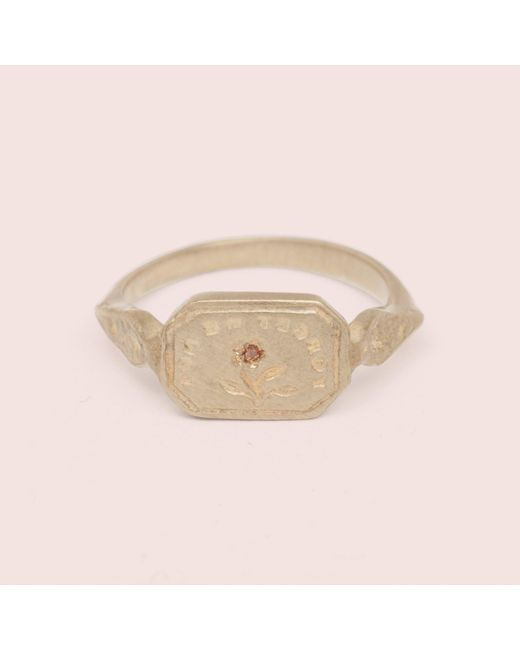"Erica Weiner - Metallic Wax Seal Ring - ""forget Me Not"" - Lyst"