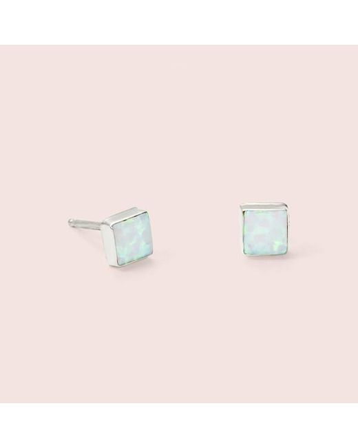 Erica Weiner - Blue Equilateral Opal Earrings (white) - Lyst
