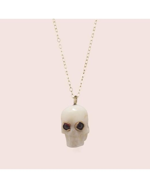 Erica Weiner | Memento Mori Skull Amulet (white) | Lyst
