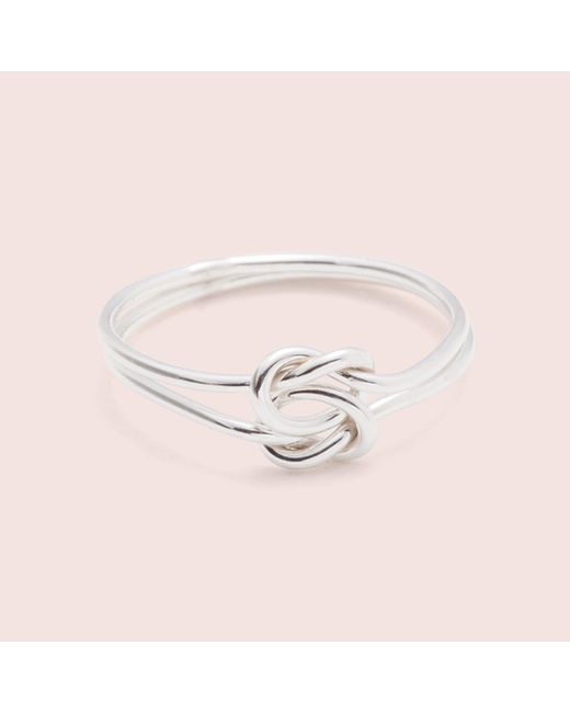 Erica Weiner - Metallic Lover's Knot Ring (silver / 14k White Gold) - Lyst