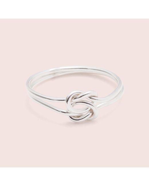 Erica Weiner | Metallic Lover's Knot Ring (silver / 14k White Gold) | Lyst