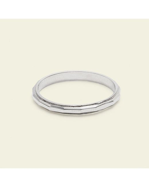 Erica Weiner - Metallic Faceted Band (14k White Gold) - Lyst