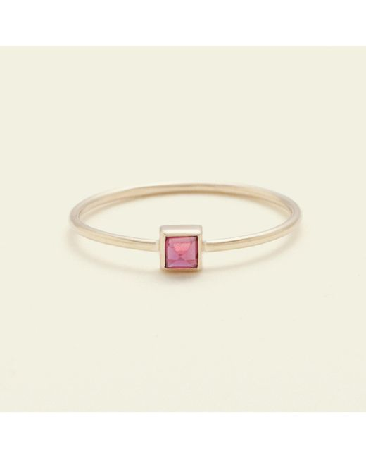 Erica Weiner - Red Pyramid Ring (ruby) - Lyst