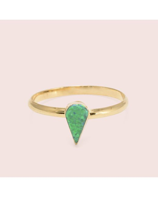Erica Weiner - Green Golden Teardrop Opal Rings - Lyst