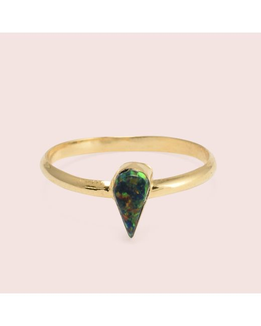 Erica Weiner - Black Golden Teardrop Opal Rings - Lyst