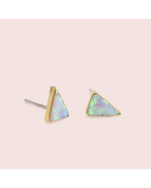 Erica Weiner | Multicolor Golden Isosceles Opal Studs (white) | Lyst