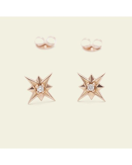 Erica Weiner - Metallic Compass Rose Earrings (14k Rose Gold) - Lyst