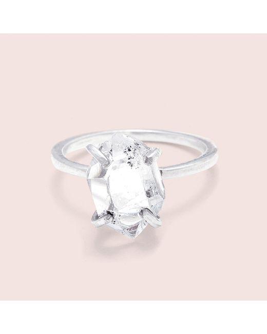 Erica Weiner | Metallic Herkimer Diamond Solitaire Ring (silver, Large) | Lyst