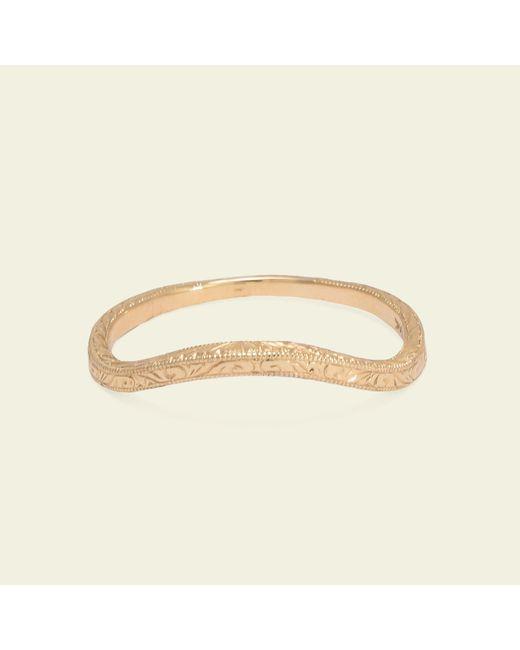 Erica Weiner - Metallic Engraved Curved Band - Lyst