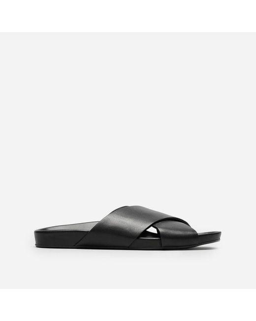 Everlane - Black The Form Crossover Sandal - Lyst