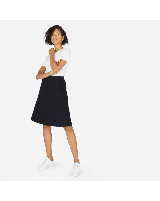 Everlane | Black The Premium Wool Flared Skirt | Lyst