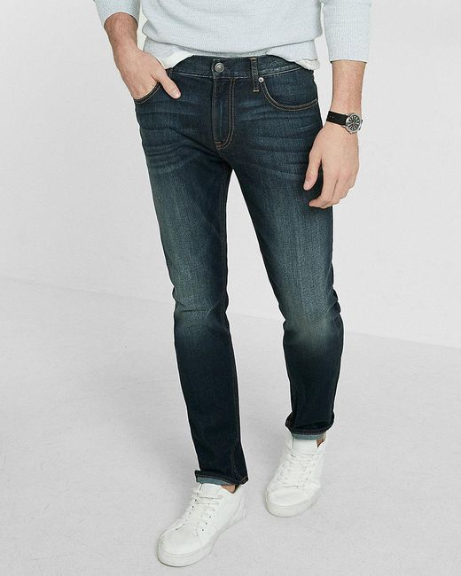 express eco friendly slim leg slim fit stretch jeans in. Black Bedroom Furniture Sets. Home Design Ideas