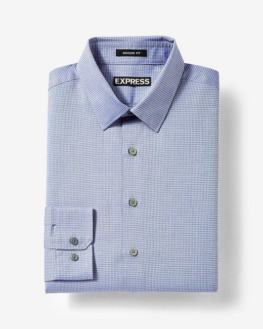Express modern fit dobby dress shirt in purple for men lyst for Modern fit dress shirt