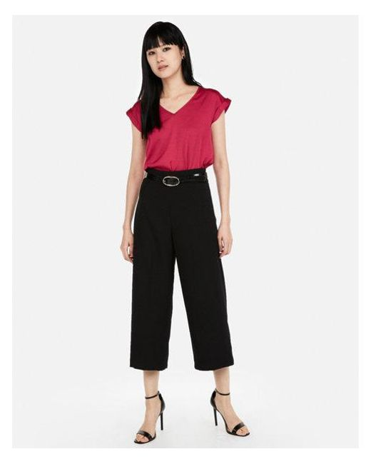 Express - Red V-neck Gramercy Tee - Lyst