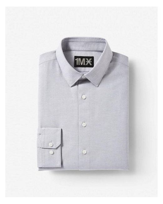 a436b09f8bb Lyst - Express Modern Fit Easy Care Oxford 1mx Shirt in Gray for Men