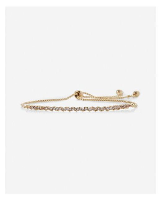 Express | Metallic Rhinestone Pull-cord Bracelet | Lyst