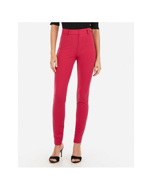Express - High Waisted Skinny Pant Pink - Lyst