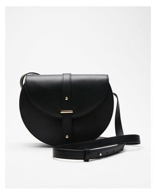 Express - Black Fold-over Saddle Cross Body Bag - Lyst