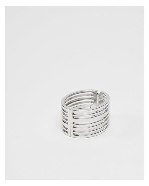 Express - Metallic Cut-out Hinge Bangle - Lyst