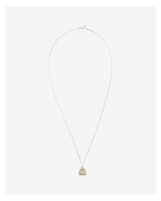 Express | Multicolor Pearl Pyramid Pendant Necklace | Lyst