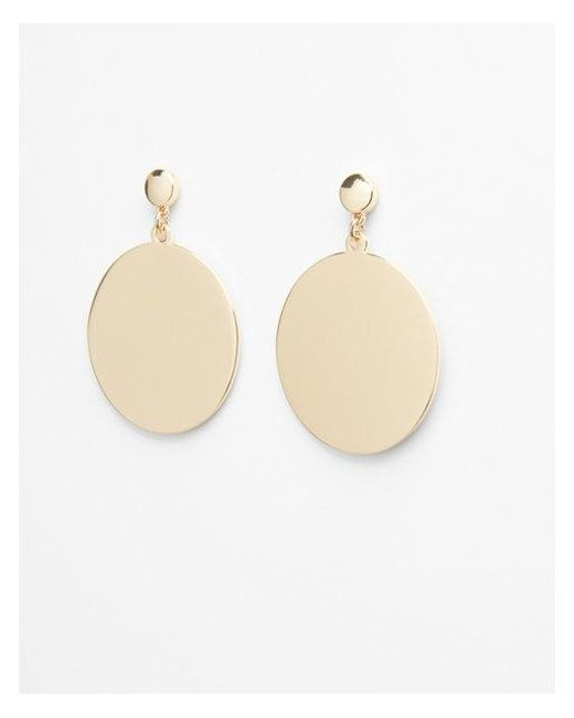 Express - Metallic Solid Circle Post Drop Earrings - Lyst