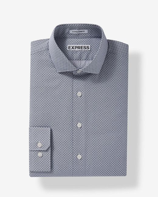 Express | Blue Slim Fit Plaid Dress Shirt for Men | Lyst