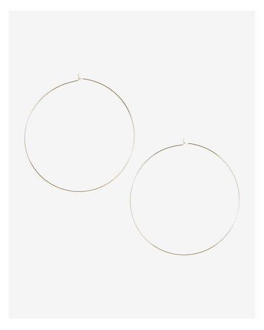 Express | Metallic Thin Metal Hoop Earrings | Lyst