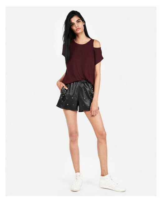 Express - Red One Eleven Sliced Dolman Tee - Lyst