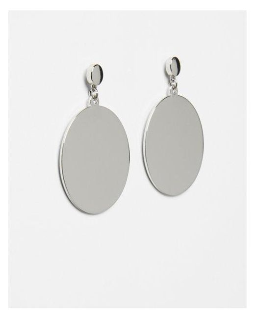 Express - Metallic Olid Circle Post Drop Earrings - Lyst