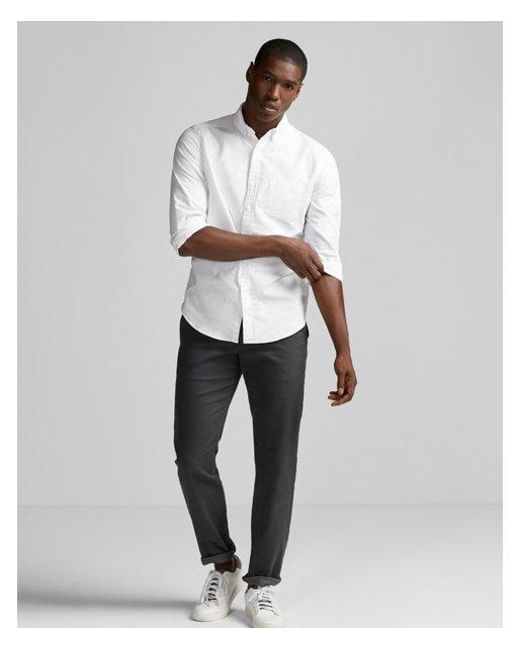 Express | White Soft Wash Oxford Shirt for Men | Lyst