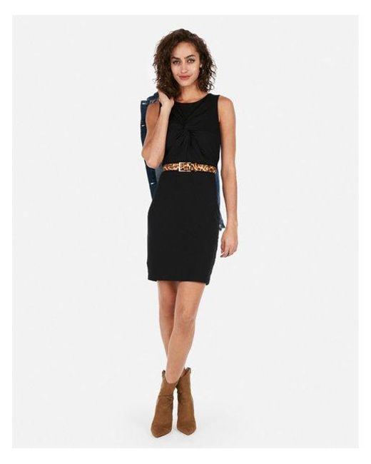 be49ef2e Express Twist Front Dress in Black - Lyst