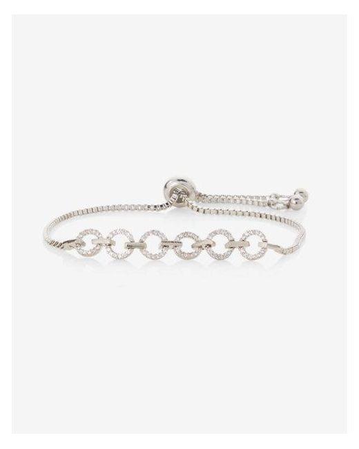 Express - Metallic Circle Metal Pull-cord Bracelet - Lyst