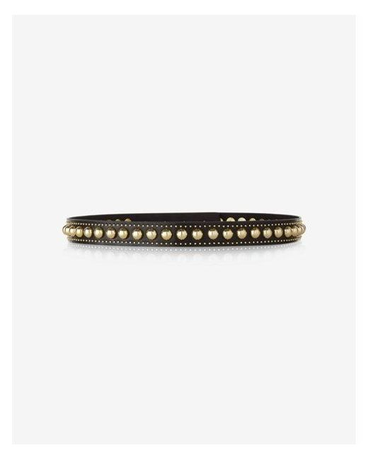 Express - Black Studded Belt - Lyst
