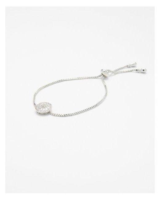 Express - Metallic Cubic Zirconia Pull-cord Bracelet - Lyst