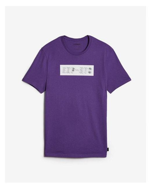 2df1d73d Lyst - Express Wavy Nyc Graphic Tee in Purple for Men