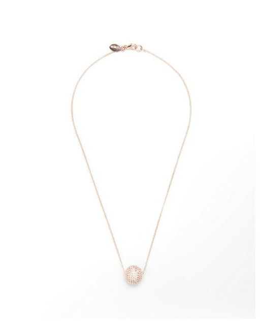 Express - Metallic Embellished Ball Pendant Necklace - Lyst