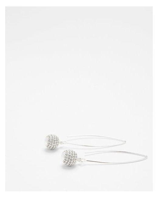 Express   Metallic Fireball Pull-through Earrings   Lyst