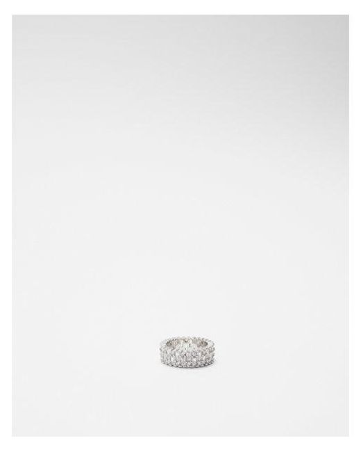 Express - Metallic Baguette Cubic Zirconia Ring - Lyst