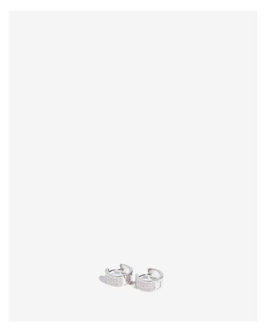 Express - Metallic Cubic Zirconia Huggie Earrings - Lyst