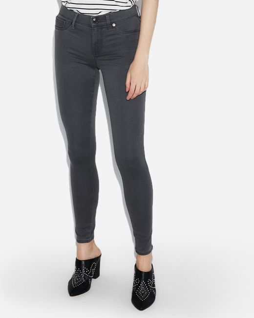 Express - Mid Rise Gray Jeggings, - Lyst