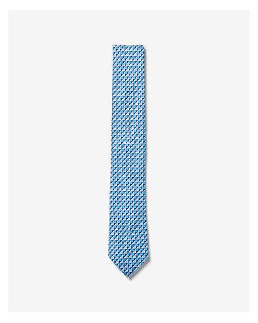 Express - Blue Narrow Geometric Print Tie for Men - Lyst