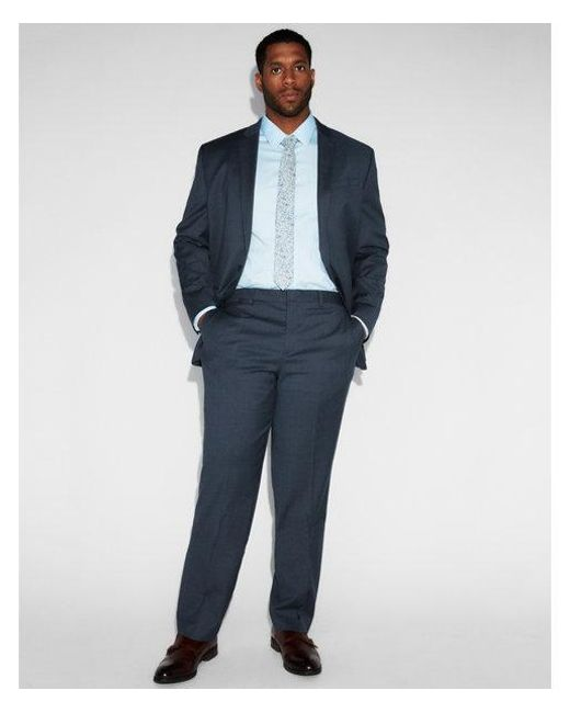Express - Blue Classic Navy Striped Wool-blend Suit Pants for Men - Lyst