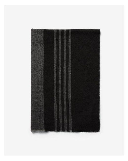 Express - Black Stripe Woven Scarf for Men - Lyst