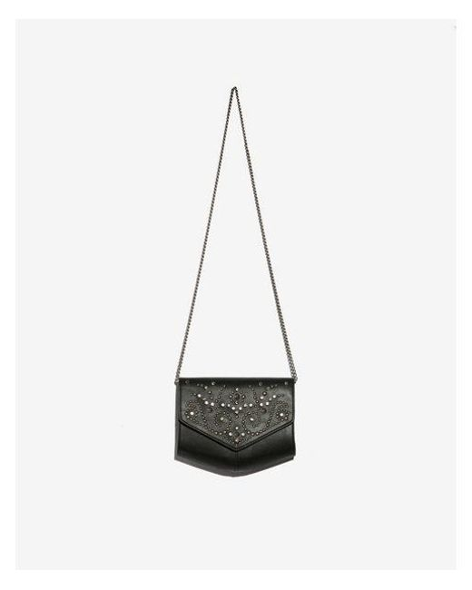 Express - Black Studded Crossbody Bag - Lyst