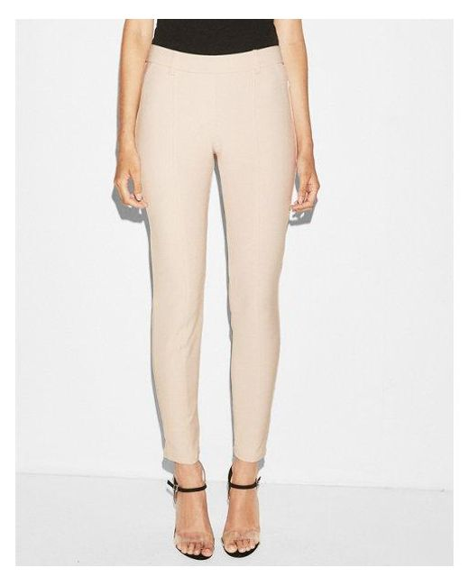 Express - Pink Mid Rise Pull-on Leggings - Lyst