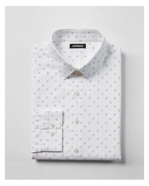 Express - White Extra Slim Fit for Men - Lyst
