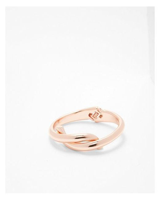 Express - Metallic Tied Metal Bangle - Lyst