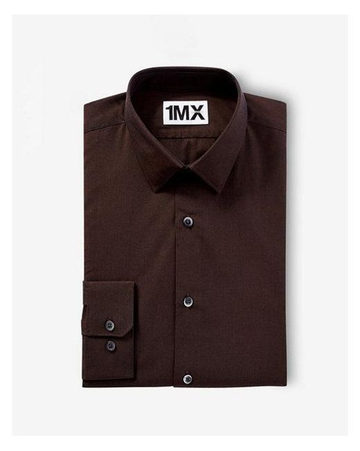 Express - Brown Extra Slim Fit Iridescent 1mx Shirt for Men - Lyst